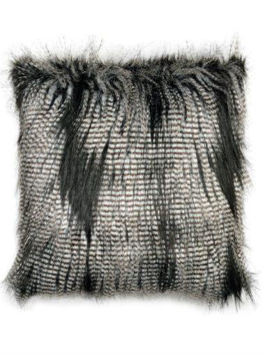 Cojín de pelo faux fur mapache 45×45 cm